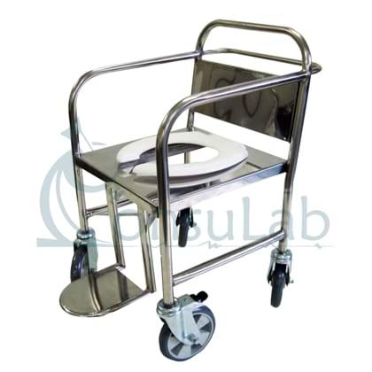Cadeira de Rodas para Banho Obeso (Suporta até 250 kg) INOX