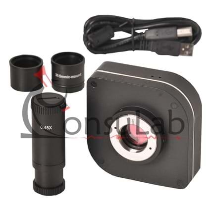 Câmera Científica Digital 12.0 MP com Software e Lente Redução
