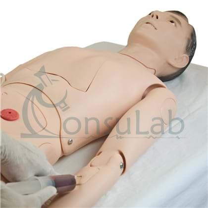 Manequim Adulto Bissexual, para Treino de Enfermagem, com Braço Avançado e Órgãos Internos