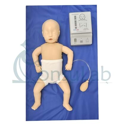 Manequim Bebê Simulador para Treino de RCP com Luzes de Controle