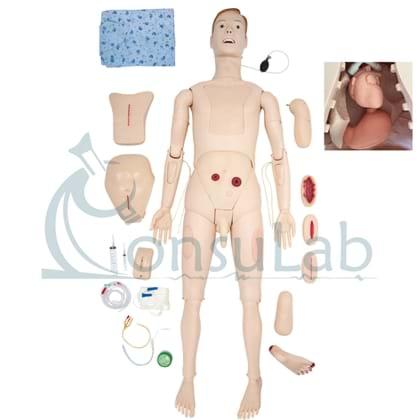 Manequim Simulador Adulto Bissexual para Treino de Enfermagem Avançado com Órgãos Internos