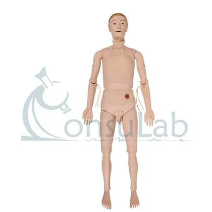 Manequim Simulador Adulto Bissexual para Treino de Enfermagem com Órgãos Internos