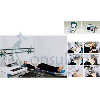 Manequim Simulador para Treino de Suporte Avançado ACLS com Software