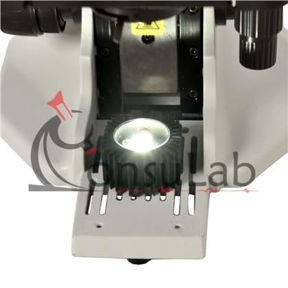 Microscópio Biológico Binocular com Aumento 40x até 1000x, Objetivas Semi Planacromáticas e Iluminaç