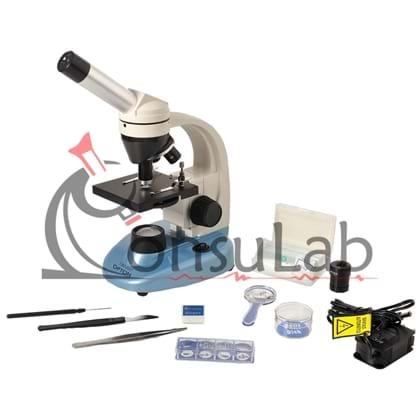 Microscópio Biológico Monocular com Aumento 40x até 640x e Iluminação a LED