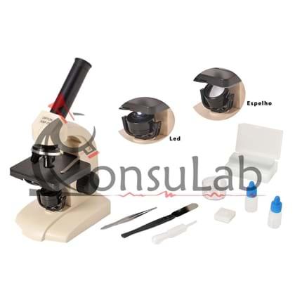 Microscópio Biológico Monocular com Aumento 70 a 400x