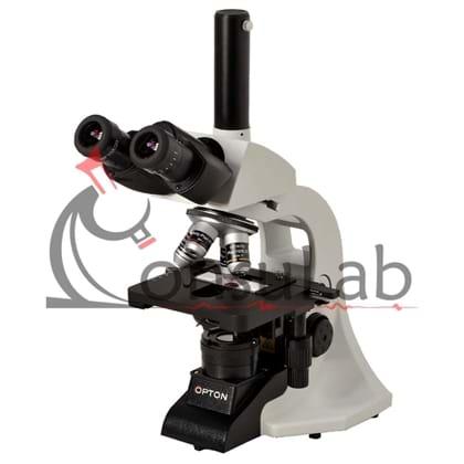 Microscópio Biológico Trinocular Óptica infinita, Aumento 40X até 1000X, Objetiva Planacromática Infinita e Iluminação LED 3W