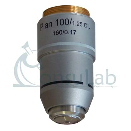 Objetiva 100X (retrátil - óleo) Planacromática Finita