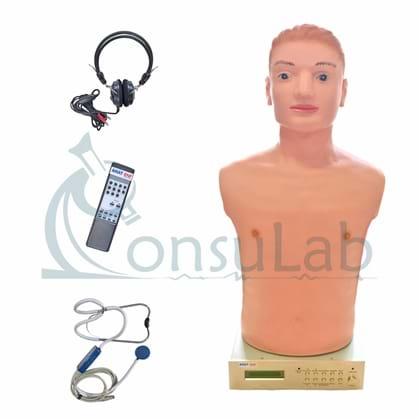 Simulador Avançado de Torso pra Habilidades Médicas de Ausculta Cardiopulmonar com Controle Remoto