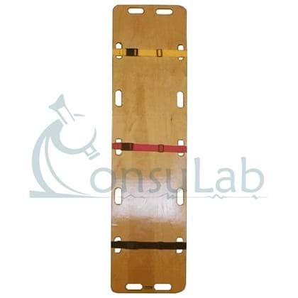 Spine Board longo (Madeira) com 03 Cintos de Segurança