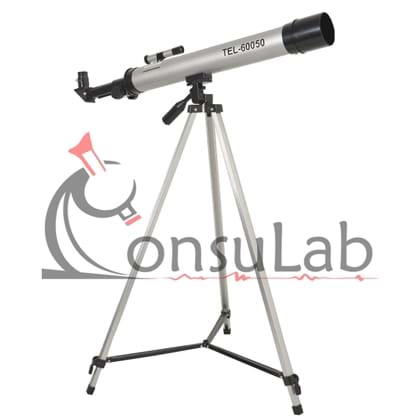 Telescópio Astronômico com Abertura de 50mm e Lente Focal de 600mm