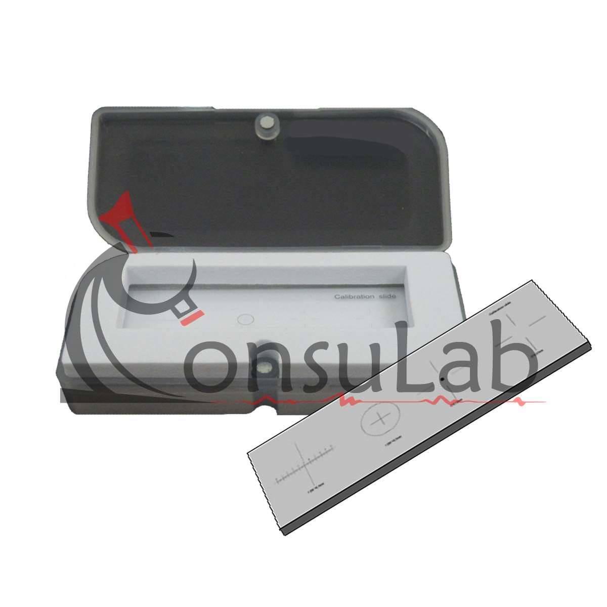 Lâmina Padrão Calibração com Escala 1/0.01-10/0.1 Ponto de Comparação DMT 0.15mm
