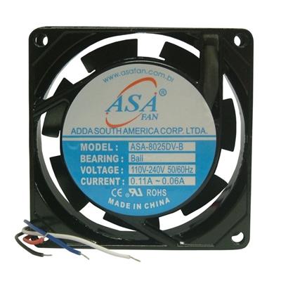 Microventilador 80x80x25 Bivolt Asa Fan Mod.8025DV-HB Bivolt