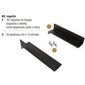 Base (Suporte L) p/ Gabinete Rack ou Switch Mesa 25cm
