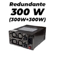 Fonte redundante 300W (300W+300W) K-Mex PR-600 bivolt