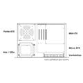 Gabinete 2U Micro ATX