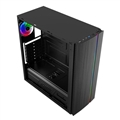 Gabinete Gamer c/ lateral Acrílico, Frontal c/ barra Led RGB