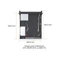 "Gabinete p/ Rack 19"" 2U ATX Single (550mm)"