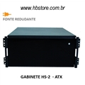 "Gabinete p/ Rack 19"" 4U ATX para Fonte Redundante"