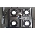Kit com 4 ventiladores bi-volts com lâmpada piloto.