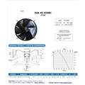 Ventilador Axial 450mm mod. ASA 4E-450BC Soprador 7 Pás