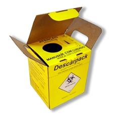 Coletor para Material Perfurocortante Descartável Pacote c/ 20 Und.