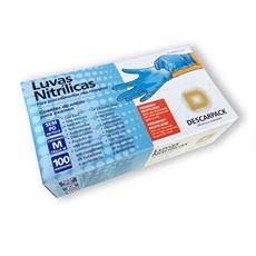 Luva Nitrílica Azul Sem Talco Cx. c/ 100 Und.