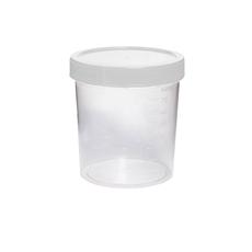 Coletor Não Estéril, Transparente, Sem Pá.tampa Branca, 80 Ml