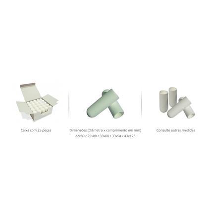 Cartucho de Celulose para Extrator Soxhlet 25x80mm, Caixa c/25 peças