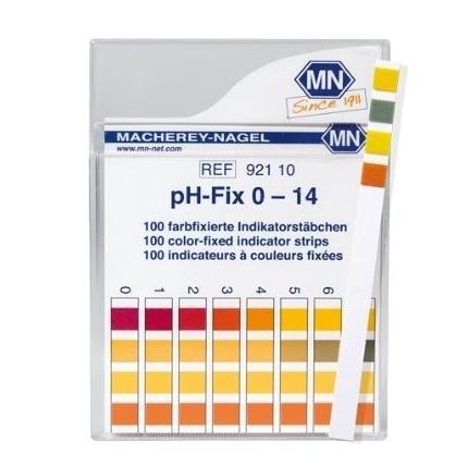 Papel Indicador de pH 0-14 100 Tiras