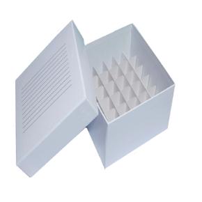 Caixa de Fibra de Papelão para Até 36 Tubos Criogênicos de 5ml com Tampa