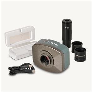 Câmera digital colorida 1.3 MP com software, lente redução e lâmina padrão.