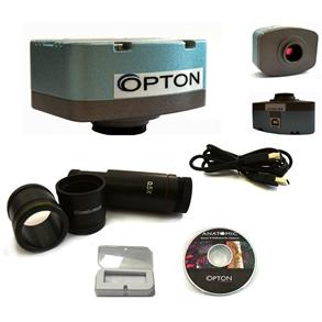 Câmera digital colorida 5.0 MP com software, lente redução e lâmina padrão.