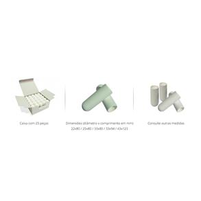 Cartucho de Celulose para Extrator Soxhlet 43x123mm, Caixa c/25 peças