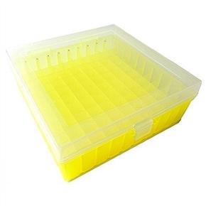 Criobox Para 100 Tubos De 2,0Ml Tampa Dobradiça Alfa Numérico de Cor Amarelo