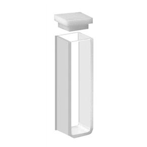 Cubeta Em Quartzo ES 2 Faces Polidas, Passo 10mm, Volume 3,5ML de Fundo Plano
