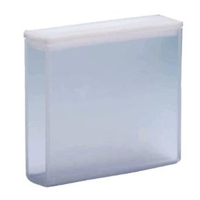 Cubeta Em Quartzo ES 2 Faces Polidas, Passo 50mm, Volume 17,5ML de Fundo Arredondado