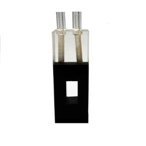 Cubeta Em Quartzo Es Para Fluxo Contínuo (Auto Mascaramento), Lat.Escura Passo 10mm, Volume 0,03Ml