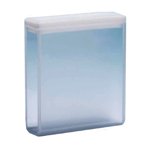 Cubeta Vidro Óptico 2 Faces Polidas, Passo 40mm, Volume 14ML de Fundo Arredondado