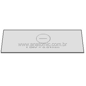 Lâmina padrão 1mm/100 divisões