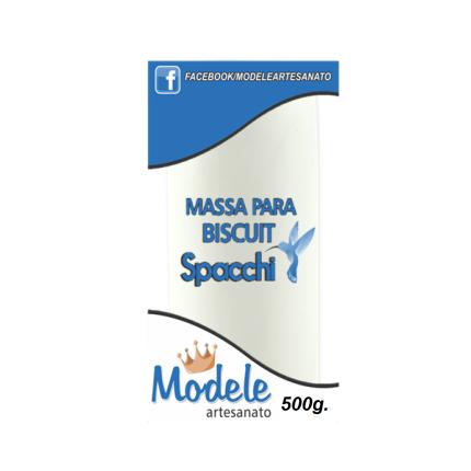 Massa para Biscuit 500g 002 Branco com Clareador