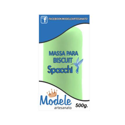 Massa para Biscuit 500g 012 Verde Folha
