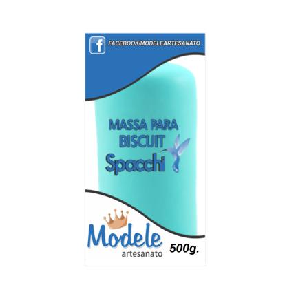 Massa para Biscuit 500g 020 Azul Celeste