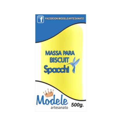 Massa para Biscuit 500g 023 Amarelo Limão