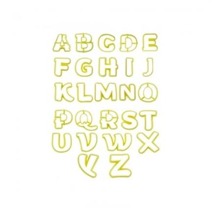 Cortador Kit Letras Maiúsculas c/ 33 pçs