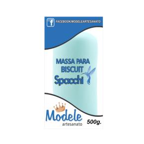 Massa para Biscuit 500g 017 Azul Claro