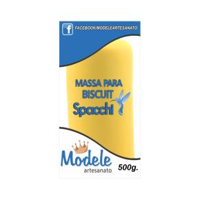 Massa para Biscuit 500g 021 Amarelo
