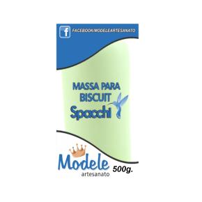 Massa para Biscuit 500g 046 Verde Perolado Claro