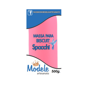 Massa para Biscuit 500g 055 Rosa Brilhante