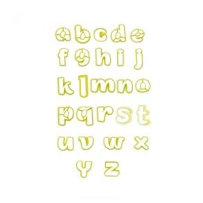 Cortador Kit Letras Minúsculas c/ 33 pçs